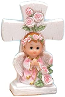 NST 2 Pieces Girl Angel Under a Cross 4.5