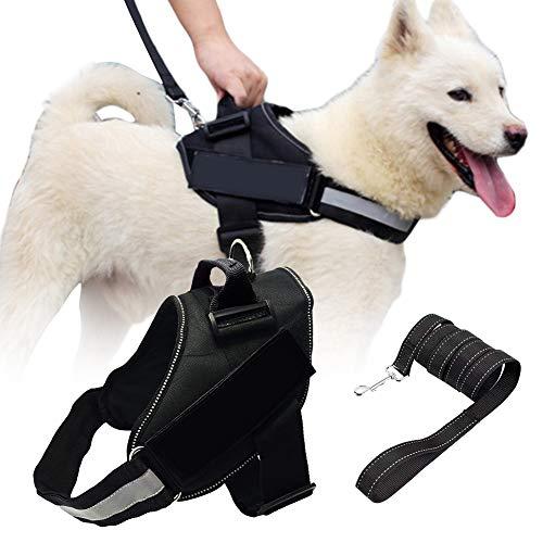 SCOBUTY Hundegeschirr,Hundeweste Geschirr,Powergeschir,Mit reflektierendem Patch und komfortablem Mesh-Design, kein Ziehen oder Würgen mehr