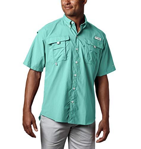 Columbia Men's PFG Bahama II Short Sleeve Shirt, Gulf Stream, X-Large