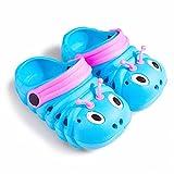 Baby Girls Boys Sandals Kid's Cute Lightweight Shoes Summer Premium Cartoon Sandals Children Caterpillar Non-Slip Beach Water Clogs Shoes Garden Slipper(Blue,8) S25