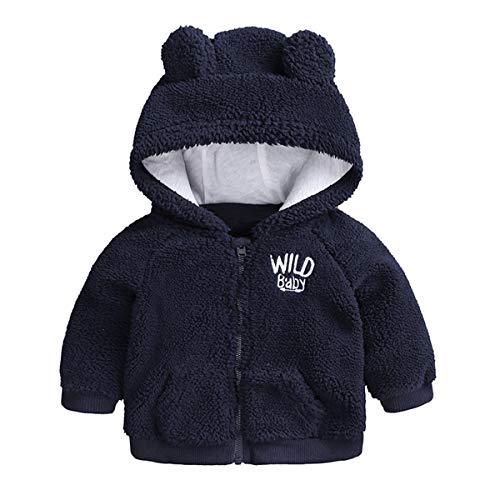 Borlai pasgeboren baby wintermantel schattig warme dikke jas hoodie outwear 0-18 maanden