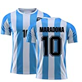 beootcr 1986 Camiseta De Fútbol De Argentina, Mara-Dona 10# Traje De Entrenamiento Clásico Retro del Equipo Nacional, Conjunto De Camiseta De Fútbol para Hombre Kids 160 T-Shirt