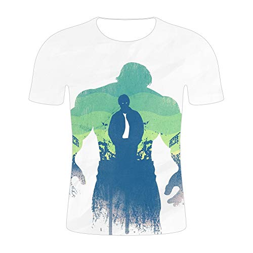 HOOLAZA Avengers Super Heroes Hombres Camiseta de compresión de Manga Corta Running Motion Shirt Fitness Gym Training Tops