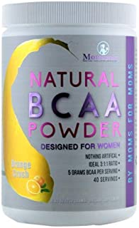 Natural BCAA Powder. Great Tasting Orange Crush Flavor. 40 Servings. Sweetened with Stevia, Erythritol, and Monk Fruit. Made by Women for Women.