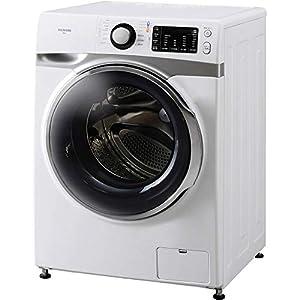 """アイリスオーヤマ ドラム式洗濯機 7.5kg 温水洗浄機能付き 左開き 幅595mm 奥行672mm 2019年モデル HD71"""""""