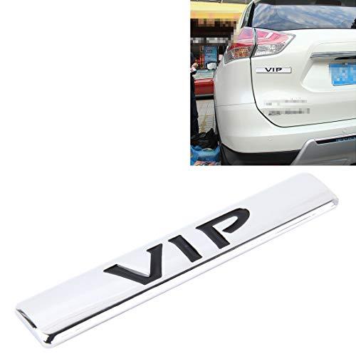 Zhoutao Auto VIP Aufkleber VIP Label Auto Aufkleber 3D Metall Mode VIP Logo Auto Aufkleber, Größe: 9,5 * 1,5 cm (Champagner Gold) (Farbe : Silver)