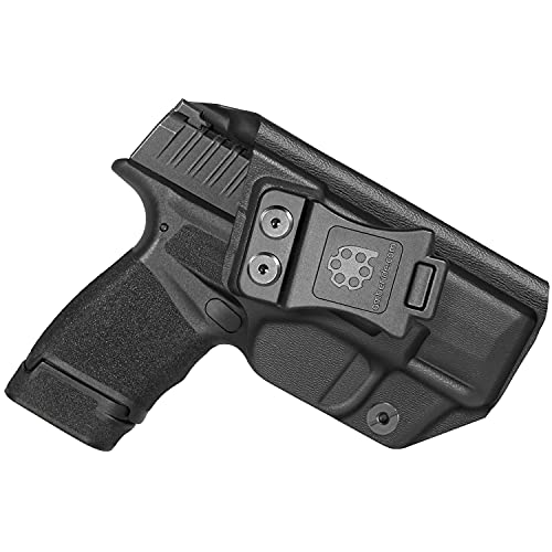 Amberide IWB KYDEX Holster Fit: Springfield Armory Hellcat Pistol | Inside Waistband | Adjustable Cant | US KYDEX Made (Black, Right Hand Draw (IWB))