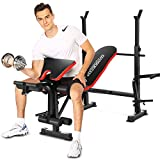 OppsDecor Strength Training Olympic Weight Benches for Full Body Workout - Adjustable Olympic Weight Bench for Indoor Exercise(US Stock)