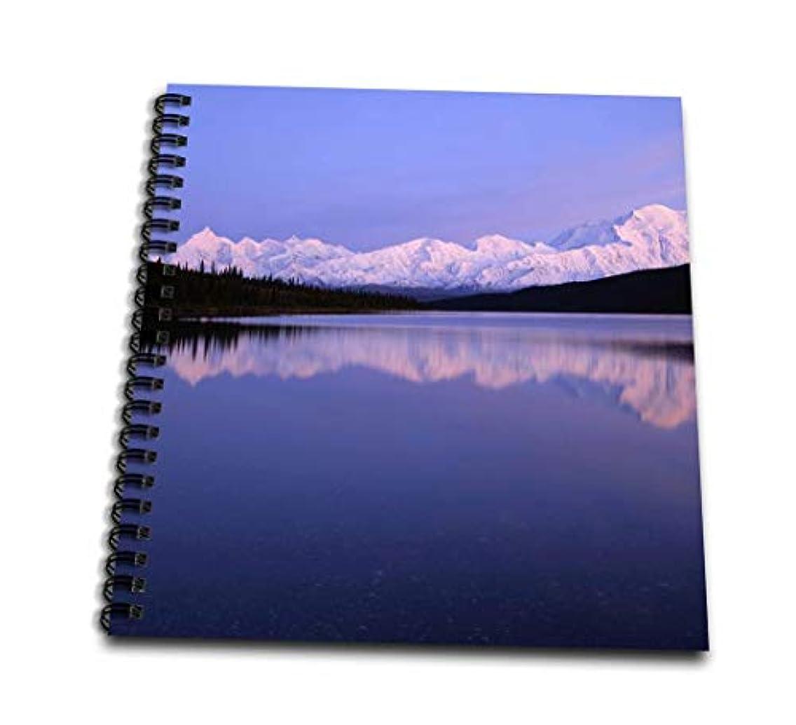 3dRose db_87489_1 Alaska, Wonder Lake, Mount Mckinley, Denali Np-Us02 Gre0017-Gerry Reynolds-Drawing Book, 8 by 8-Inch