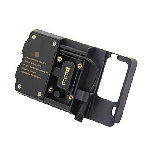 wuli Store Soporte de navegación del teléfono móvil USB Teléfono de Carga Adecuada para BMW R1200GS 2013-2017 F750GS F850GS CRF 1000L F700GS F800GS