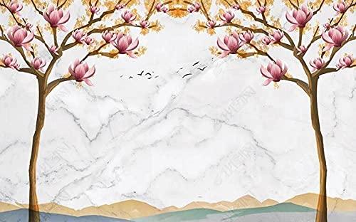 Carta da parati per camera da letto sfondi murali 350x256cm decorazione per soggiorno sfondi-pietra magnolia albero