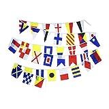 Flaglink International Marine Navy Signal Code Flag Set - String of 40 Flag - 40 Feet Long – Nautical Maritime Boat Ship Vessel Nautical Theme Decoration for Patry