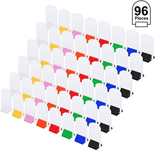 48 Stück Spielkartenständer Mehrfarbig Karton Spiel Steht und 48 Stück Blanko Spielkarten Blanko Brettspielkarten für Party Favor