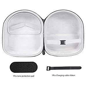 Esimen Hard Carrying Case for Oculus Quest 2 (Not Compatible with Elite Strap ) VR Gaming Headset and Controllers 64GB 128GB Protective Storage Travel Box (Gray)
