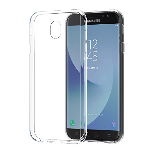 SPARIN [2 Stück] Samsung Galaxy J7 2017 hülle, Samsung galalxy J7 DUOS 2017 Schutzhülle Silikon Soft TPU Premium galalxy J7 2017 Handyhülle Anti-Kratzer klar Rücken für galalxy J7 2017 Tasche