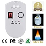 Natural Digital Gas Detector, Home Gas Alarm, Gas Leak Detector,High Sensitivity LPG LNG Coal Natural Gas Leak Detection, Alarm Monitor Sensor Home/Kitchen