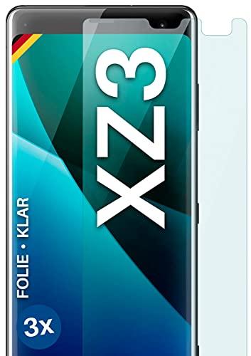 moex Klare Schutzfolie kompatibel mit Sony Xperia XZ3 - Bildschirmfolie kristallklar, HD Bildschirmschutz, dünne Kratzfeste Folie, 3X Stück