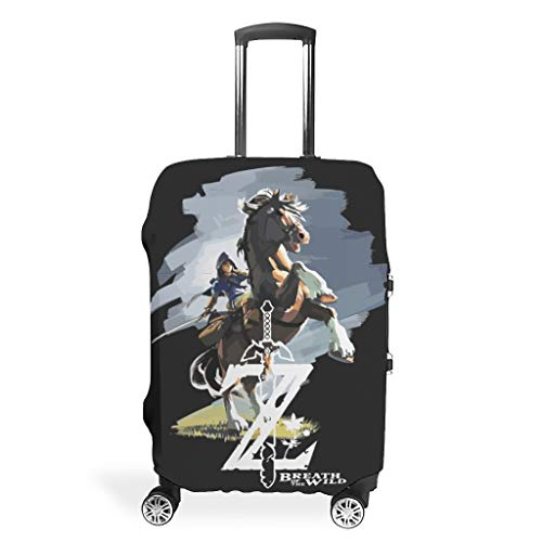 Zelda Suitcase Cover Durable Washable Fits 18-32 Inch for Wheeled Suitcase Over Softsided Game Role White 30-32in