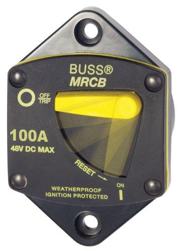 Blue Sea Systems 7044 187 Series, 285 Series & Klixon Circuit Breakers, 187 Series, Panel Mount, 100A DC