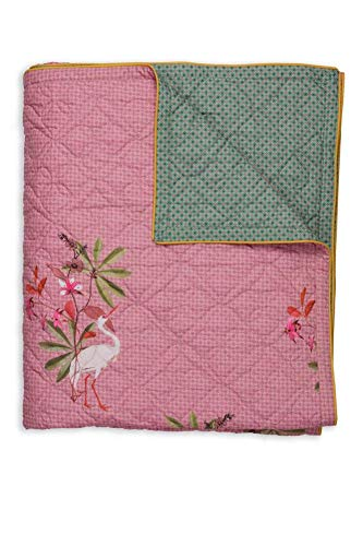 PIP Studio My Heron Quilt Pink 270x260cm Tagesdecke Decke Wohndecke Plaid