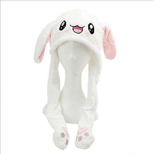 Sombrero de conejo de peluche, interesante y divertido gorro de conejo, juguetes, oreja que se mueve suave peluche animales mejores regalos un juguete