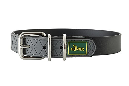 HUNTER CONVENIENCE Hundehalsband, Kunststoffmaterial, 60 L, schwarz