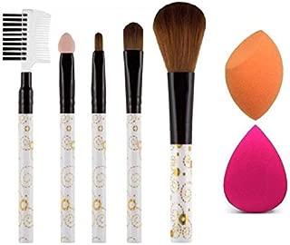 SWIPA 2 Pieces Blender Puff + 5 Pieces Makeup Brush (Set of 7)