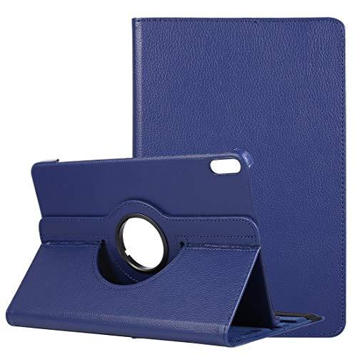 PAN-ES Funda Tablet PC Compatible for Huawei Matepad 10,4 Litchi Textura Giro Horizontal 360 Grados de rotación de la Caja de Cuero con Soporte (Color : Dark Blue)