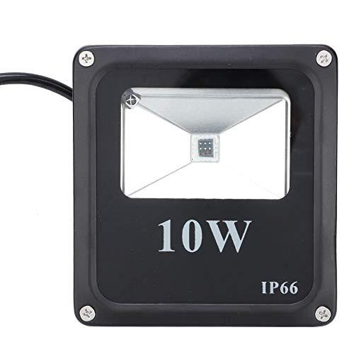 Lámpara de inundación LED, Luces de Seguridad Ambiental 10W con Aluminio 12.7 * 11.9 * 3.6 cm para jardín al Aire Libre Césped AC85-265V (Negro)