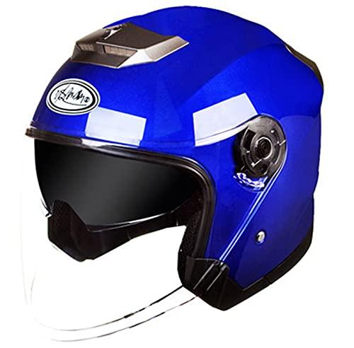 ABDOMINAL WHEEL Casco Moto Jet,Helmet Motocicleta Half Vintage con Visera Solar, Certificación ECE Ciclomotor Cascos,Adecuados para Montar en Bicicleta Machete Cruiser Casco B,XXXL58~61cm
