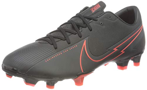 Nike Vapor 13 Academy FG/MG, Football Shoe Unisex Adulto, Black/Black-Dark Smoke Grey, 41 EU