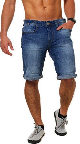 M.O.D Herren Jeans Shorts Joshua kurze Männer Sommerhose buffalo blue W30