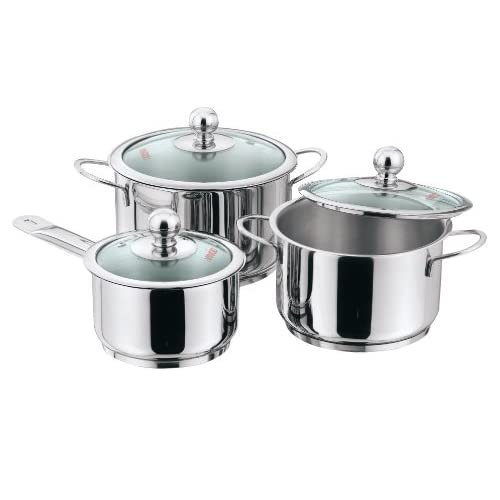 Vinod Cookware Induction Friendly Tuscany Set, 3-Pieces