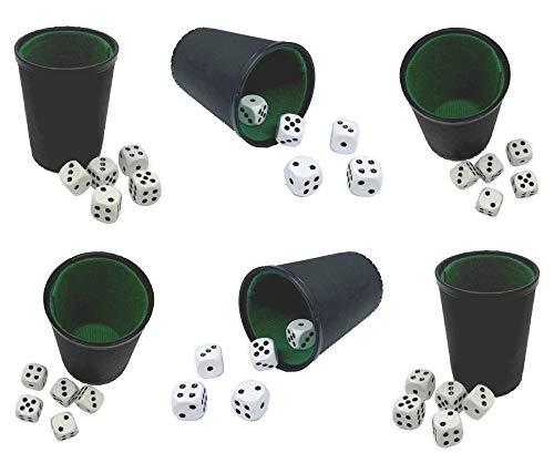 Top Ten Handels GmbH Würfelbecher Knobelbecher Set mit 6 Bechern und 30 Würfeln