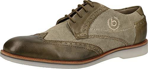 Bugatti 311647034100, Zapatos de Cordones Derby para Hombre, Verde (Green 7000), 44 EU