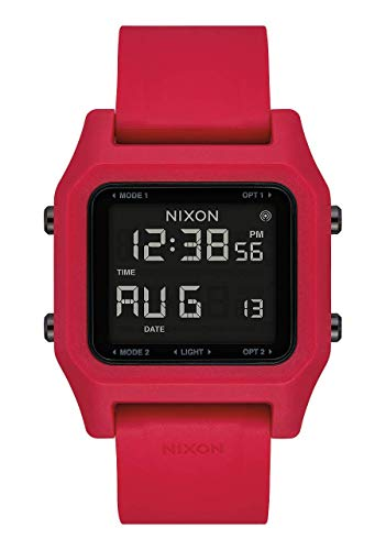 NIXON Staple A1309 - Red - 100m Water Resistant Men's Digital Sport Watch (38mm Face, 22mm PU/Rubber/Silicone Band) - Made with #Tide Recycled Ocean Plastics