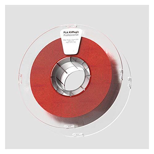 Filamento PLA K5 de 1,75 mm, filamento de impresora 3D de 1 kg, hace que la impresión muestre un efecto de superficie como rocas naturales.-Rojo ladrillo