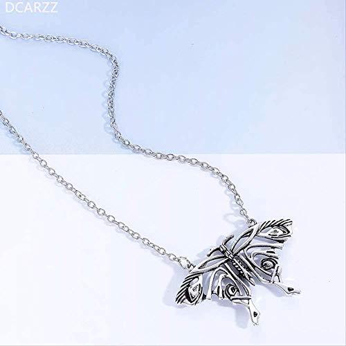 AOAOTOTQ Co.,ltd Collar Mamma MIA Plateado Colgante de Mariposa Yong Donna s Gran Collar de Mariposa Disfraz Cosply Accesorios de joyera para Regalo de Mujer