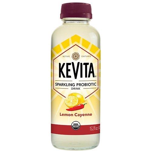 KEVITA Lemon Cayenne Sparkling Probiotic, 15.2 Ounce (Pack of 6)