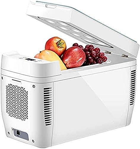 FCXBQ Mini refrigerador portátil Compacto de 11 litros para Dormitorio, Oficina, Dormitorio, automóvil, Ideal para el Cuidado de la Piel y cosméticos (240 V / 12 V)