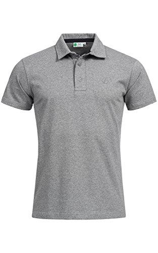 Banqert Herren Polo Shirt Grand Baie, Kurzarmhemd im sportiven Design mit Knopfleiste und Polokragen für Männer aus 100% Baumwolle für Büro und Sport, in Dunkel-Grau L