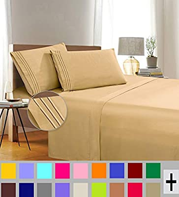 Elegant Comfort Thread Count Wrinkle & Fade Resistant Egyptian Quality 3-Piece Bed Sheet Set Ultra Soft Luxurious Set Includes Flat Sheet, Fitted Sheet and 1 Pillowcase