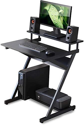 """YUYANDE Desk per Computer a Forma di Z 33"""", Telaio in Metallo Scrivania da Lavoro Regolabile Gaming Desk Desk Home Spazio Saving Laptop Tabella 33,5 Pollici (Color : Black)"""
