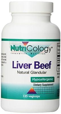 Nutricology Liver Beef, 125 Vegicaps
