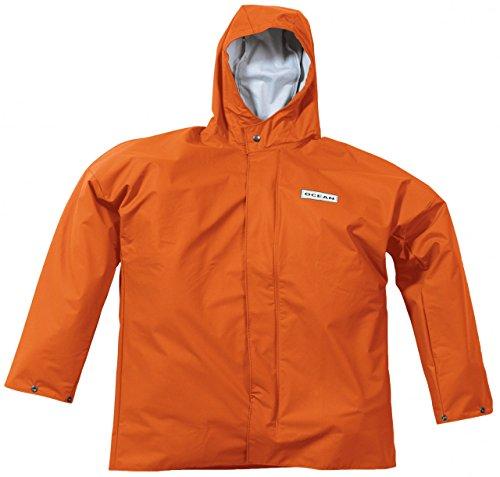 Ocean Rainwear Damen Herren Regenjacke Comfort Heavy Segeljacke, Farbe:orange, Größe:S