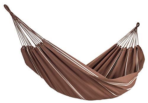 Amalyssa - Hamac Brésilien : Natural Café - Coton Bio - Toile Résistante - Confort & Solidité - Séchage Rapide - Lavable 30° - Fabrication Artisanale