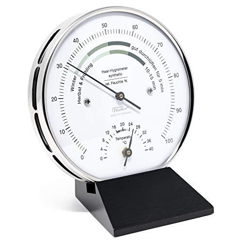 Fischer 122.01HT-06 Wohnklima-Hygrometer mit Thermometer, Manufaktur aus Deutschland