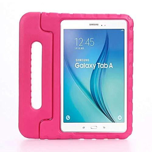 Hannuo Samsung Galaxy Tab A6 10.1 T580 T585 10.1 Funda para Tablet PC Fundas Tab A6 10.1 Funda para niños Funda de Espuma EVA a Prueba de Golpes para niños-Rosa