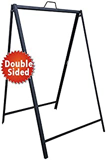 Heavy Duty Metal A Frame Sidewalk Sign for Outdoor/Indoor Advertisement Use - for 24