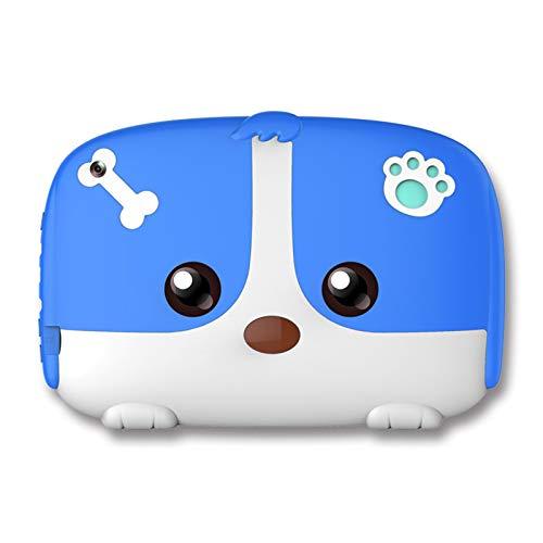 Tabletas para Niños de Cuatro Núcleos de 7 Pulgadas, Tableta con Pantalla HD de 16 GB con Estuche Protector Encantador, Juguetes de Aprendizaje, Cámara Dual para 2 A 10 Años de Edad,Azul